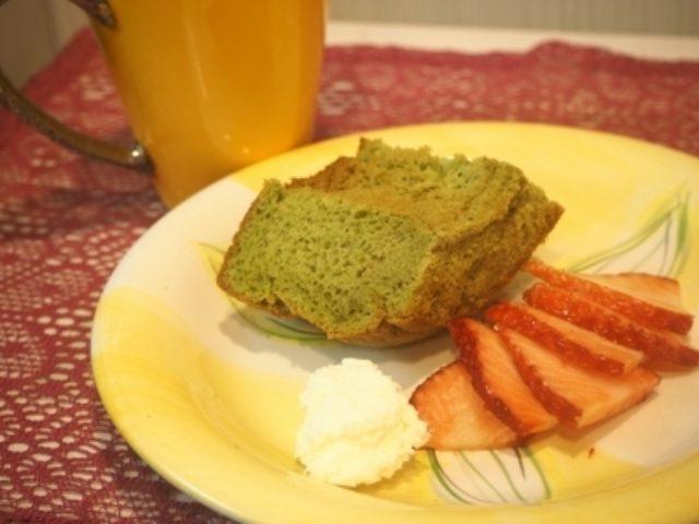画像: ふわっふわでおいしいシフォンケーキをいただきました☆