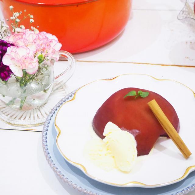 画像: 【簡単料理】寒い日にはスパイスの香りが口の中に広がる大人のデザート「りんごの赤ワイン煮」☆