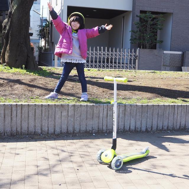 画像: 【外遊び】お花見をしながらGLOBBERの三輪キックスクーターで運動不足解消☆