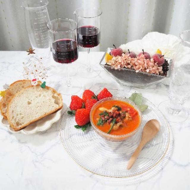 画像: 【おうちごはん】簡単レシピでおいしい!あずきと鶏肉のトマトクリーム煮を作ってみた☆