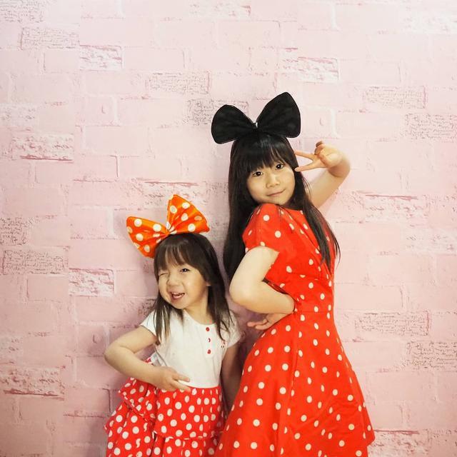 画像: 【おうち時間】姉妹リンクコーデでミニーちゃんコーデをしておうちディズニー気分?!
