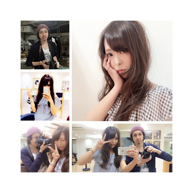 画像: 撮影中ずーっとテツロさんの恋愛話♡一途って素敵♡♡ #model→Chuharu  #stylist→tetsuro  #camera→tetsuro #salon →mod's hair  #撮影#サロン#モデル#サロモ#仲良し#美容師#カラー# ... instagram.com