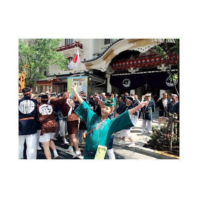 画像: 銀座のお祭り‼︎#東銀座#歌舞伎座#鐡砲洲稲荷神社#神輿#お祭り#instagood#instapic#l4l#f4f instagram.com