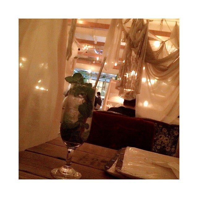 画像: りな待ちモヒート‼︎#夜カフェ#モヒート#お一人様#渋谷#cafe#instagood#instapic#l4l#f4f instagram.com