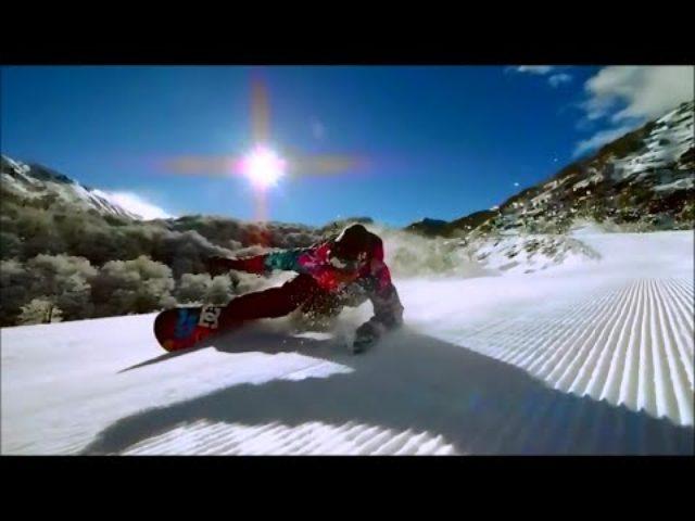 画像: ゲレンデでみた超絶クールなスノーボーダーの動画