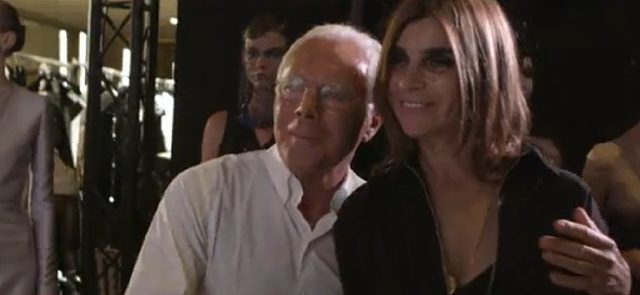 画像: ジョルジュ・アルマーニと www.youtube.com