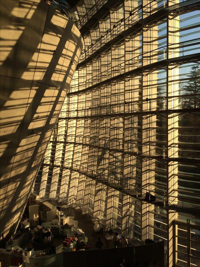 画像: 夕暮れの国立新美術館