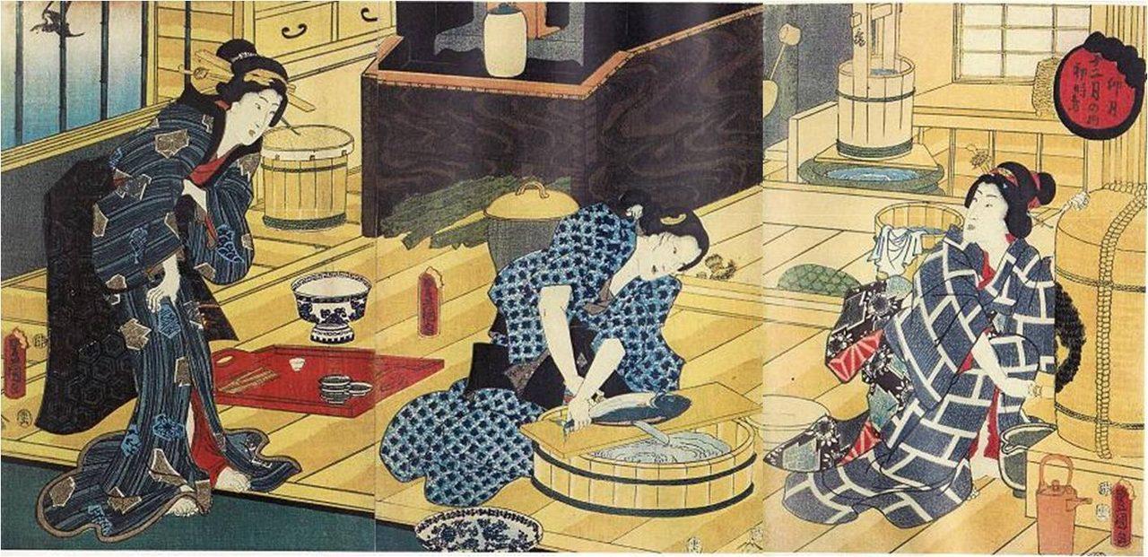 画像: 「鎌倉の波に早稲田を付け合せ」