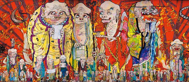 画像: 村上 隆 《五百羅漢図》(部分)2012年 個人蔵 ©2012 Takashi Murakami/Kaikai Kiki Co., Ltd. All Rights Reserved.