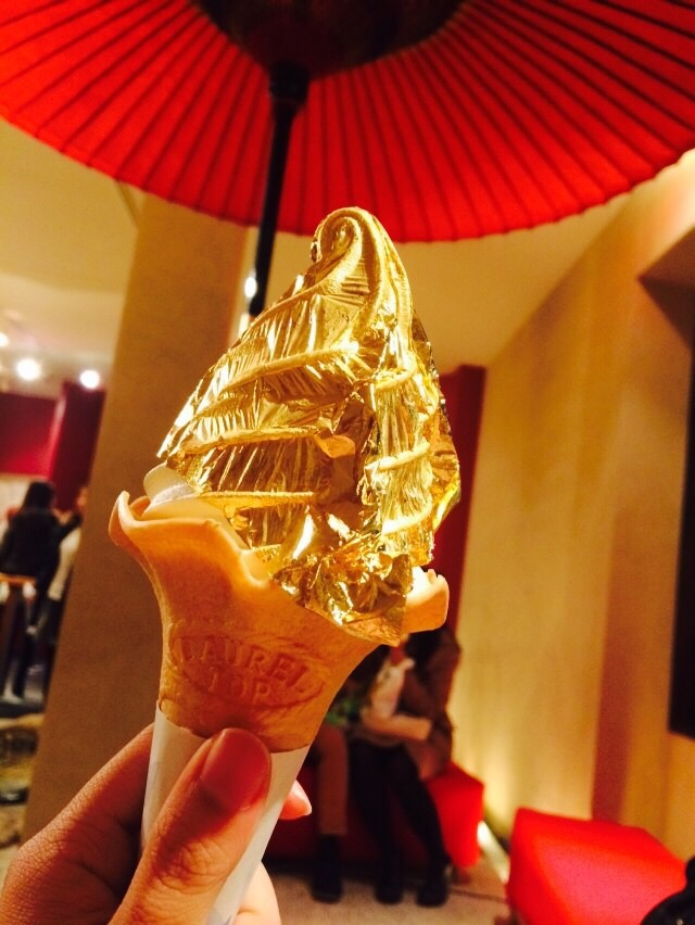 画像: 金箔のかがやきソフトクリーム。ソフトクリームが濃厚でおいしい