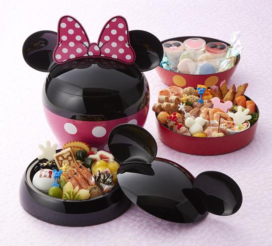 画像: ミッキーマウス/ミニーマウス・シルエット 三段重 monthly.bellemaison.jp