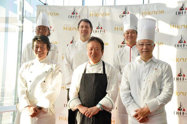 画像: 山下春幸、山田宏巳、辻口博啓(前列左から) 茂出木浩司、フィリップ バットン、陳健太郎(後列左から)