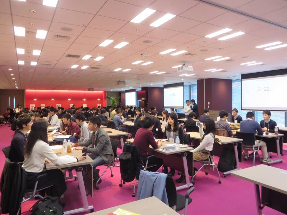 画像: 3月6日の勉強会(学生93名、社会人57名、内定者6名が参加) www.facebook.com