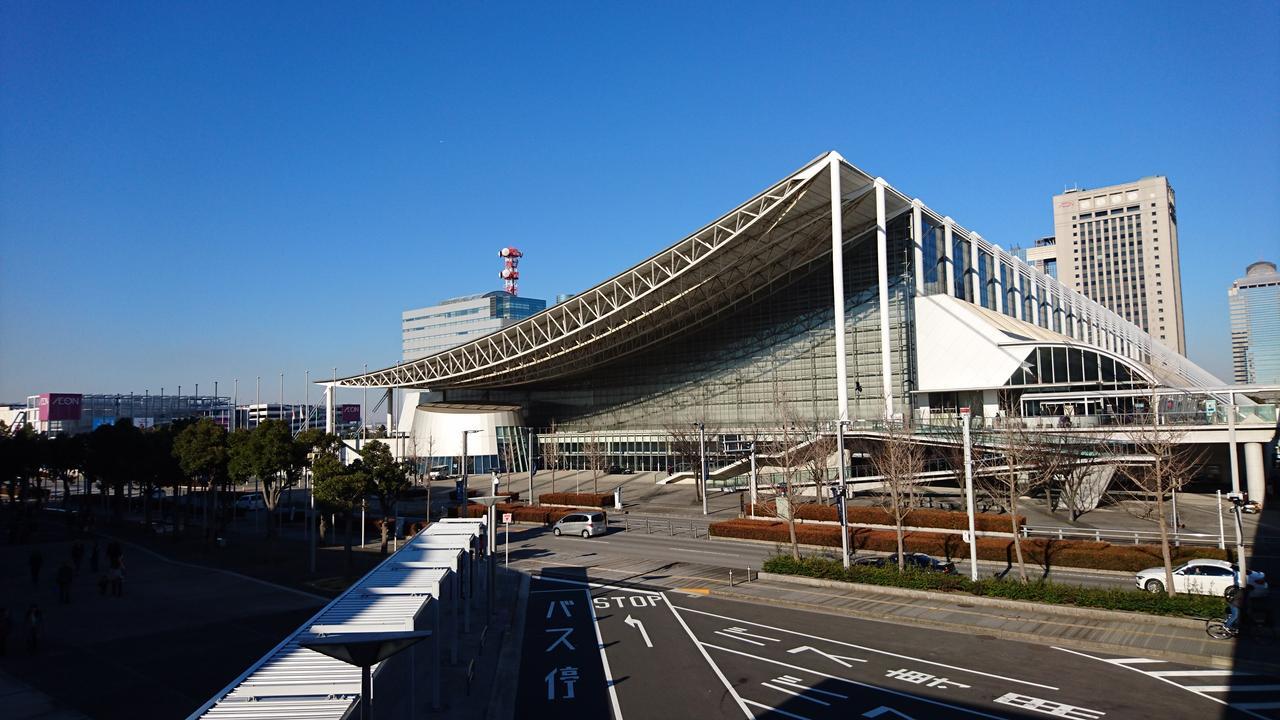 画像: 幕張メッセ北ホール。 幕張メッセは10を超えるホールを持ち、非常に多くのイベントが行われる。