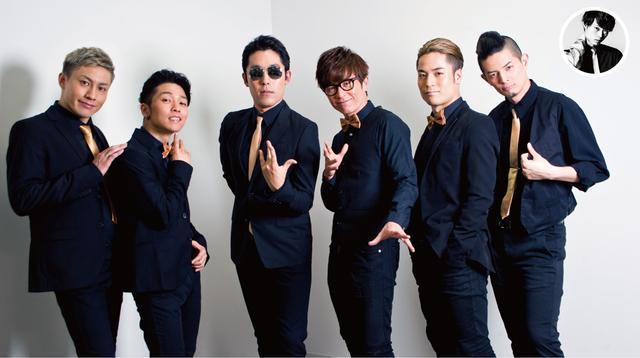 画像: 左から、ダンサーのパイレーツオブマチョビアン、Show-hey、ボーカルの中田敦彦、藤森慎吾、ダンサーのFISHBOY、つとむ。取材当日は出席できず…。ダンサーのSHiN