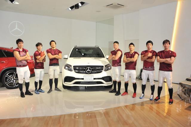 画像: Mercedes-AMG GLS 63 4MATIC。大学アメフト選手7人も「乗り降りしやすいだけでなく、3列目のシートもゆったりしてとても快適でした」と、GLSのラグジュアリーな室内空間を実感。(メーカー希望小売価格1070万円〜・税込み)