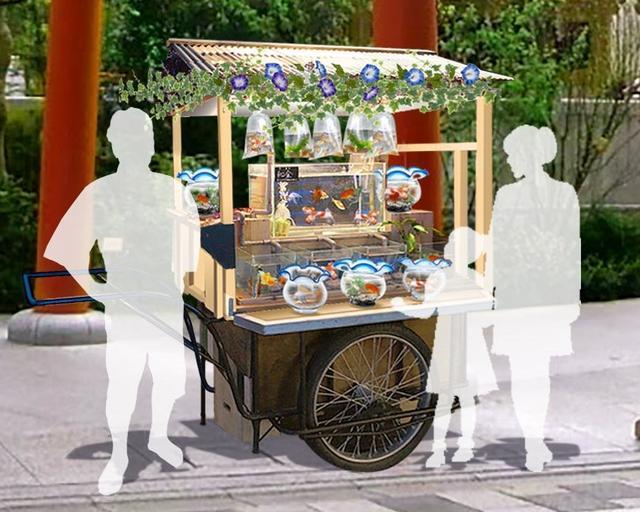 画像: 期間中7〜8月の土日限定で、金魚を販売する「金魚屋台」を初めて実施