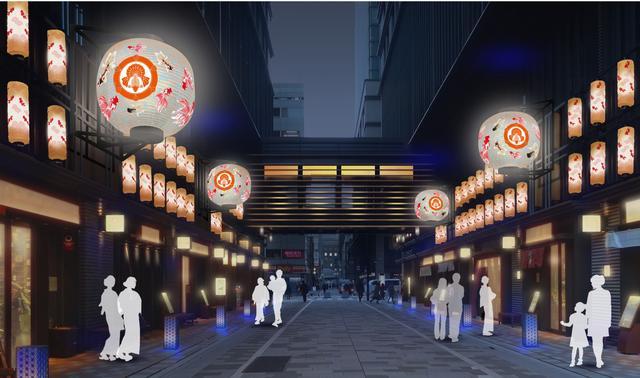 画像: 初登場する金魚大提灯が仲通りやコレド日本橋を彩る