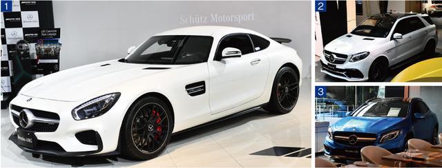 画像: 1. 人気のGTに特別モデル誕生!Mercedes-AMG GT S 130th. Anniversary Edition(2140万円) 2.ラグジュアリーSUVのAMGモデル Mercedes-AMG GLE 63 S 4MATIC(1740万円) 3.若い世代にも人気のGLAのAMGモデル Mercedes-AMG GLA 45 4MATIC(779万円)※各価格はメーカー希望小売価格・税込
