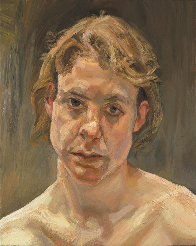 画像: ルシアン・フロイド《裸の少女の頭部》1999年 ©Lucian Freud Archive/Bridgeman Images UBS Art Collection
