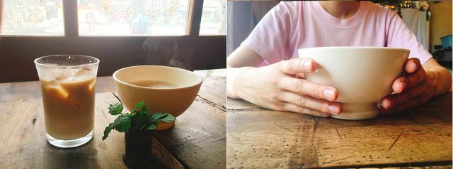 画像: カフェラテ 600円(税込)豆乳に変更可