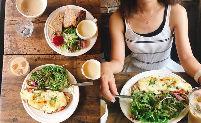 画像: チーズトーストプレート 900円(税別) ゴマミソサンドプレート 900円(税別) 両方、ミニサラダとスープ付き