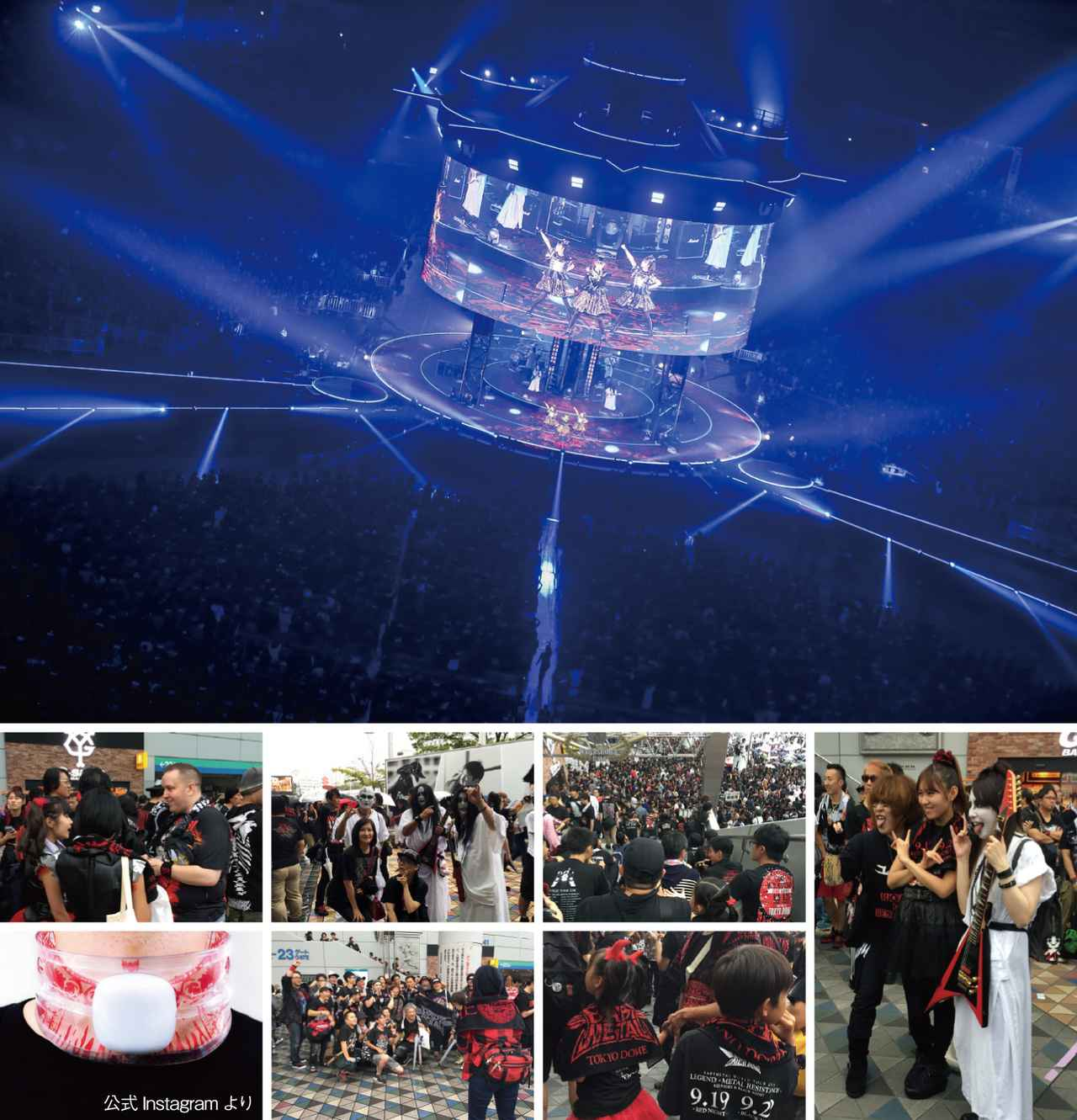 画像: 東京ドーム入場ゲートには、開場前からBABYMETALのファンが集結。中には、BABYMETALのコスチュームでメンバーになりきった女の子や、親子連れ、神バンドの格好をしたファンなどでヒートアップ