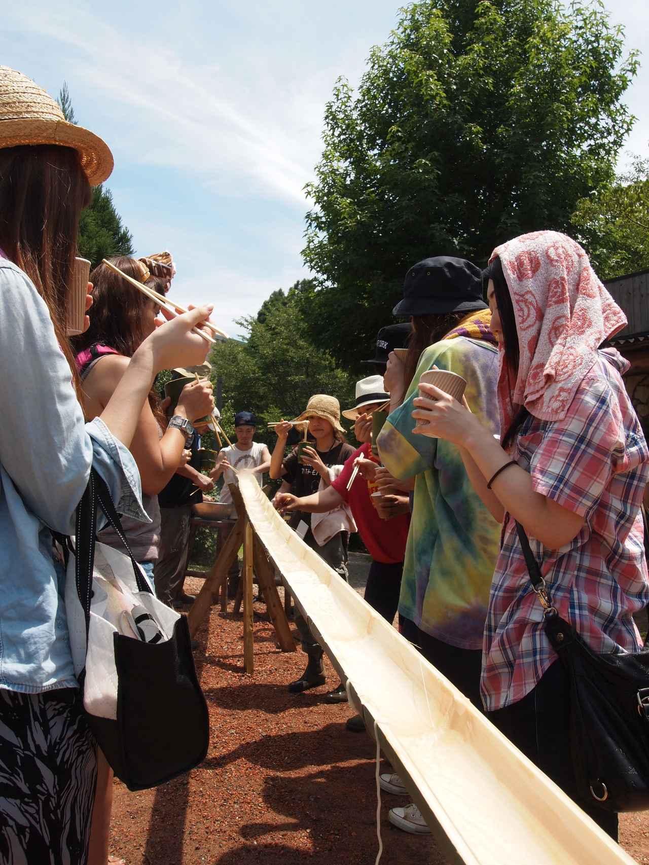 画像6: 夏恒例の「流しそうめん」 でも暑さは克服できず!? Farming Event Report【2015.7.26】