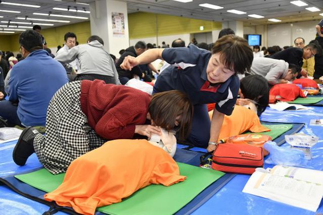 画像: 東京マラソン、普通救命講習会に1000人が参加