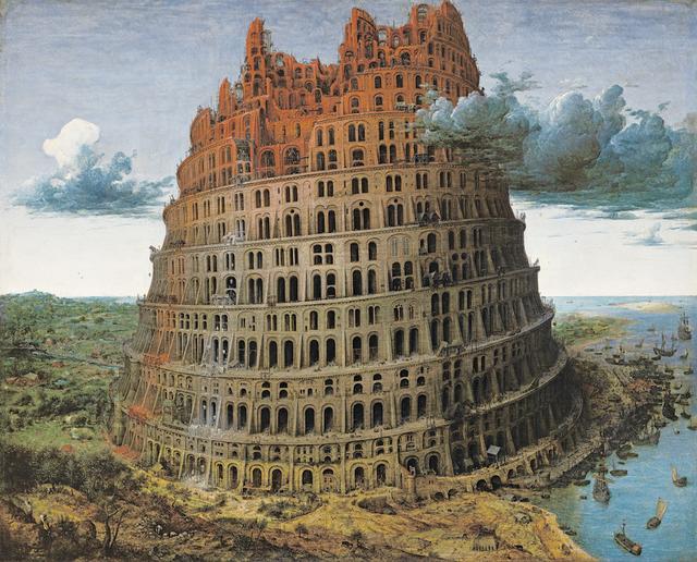 画像: ピーテル・ブリューゲル1世『バベルの塔』1568年頃 Museum BVB, Rotterdam, the Netherlands