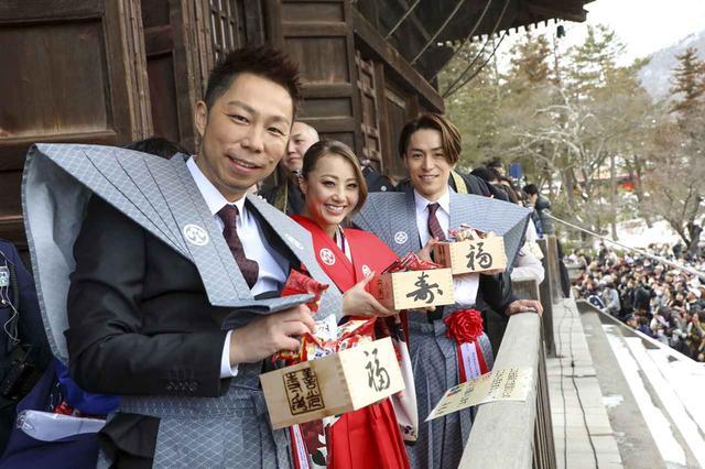 画像: 写真左よりEXILE ÜSA、Dream Shizuka、EXILE TETSUYA