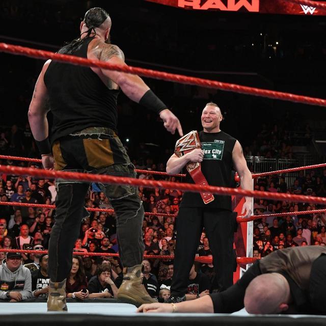 画像: 王座決定戦で対戦するレスナーとストローマンが火花【10・29 WWE】