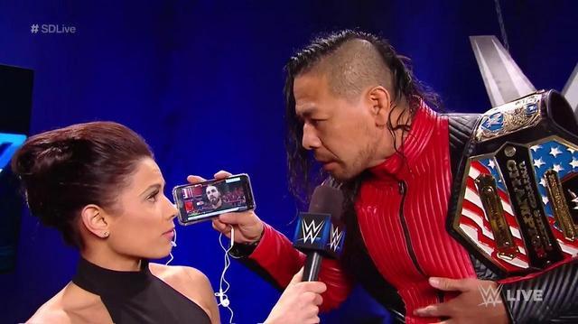 画像: 中邑真輔がロリンズの顔面骨折を予告【11・18 WWE】