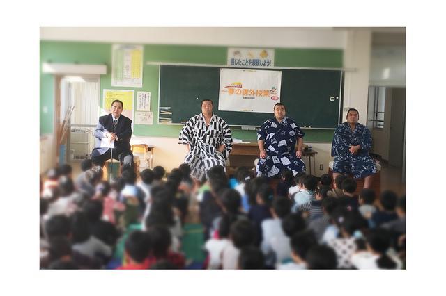 画像: 芝田山親方を迎えての夢の課外授業を実施。