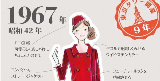 画像: 東京タワー60年の歴代アテンダント衣装がカワイイ「東京タワー 歴代制服復刻展」
