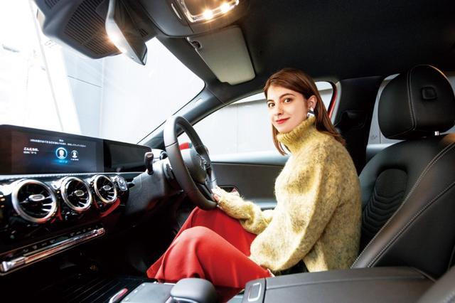 画像: マギー、ドライブの相棒は...「ハイ、メルセデス!」