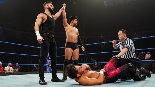 画像: ヒデオ・イタミ 新パートナー・デバリ引き連れ格下相手に快勝【12・20 WWE】