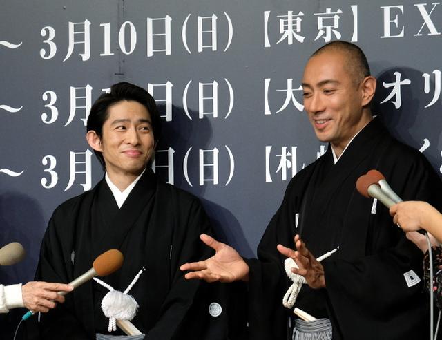 画像: 海老蔵と三宅健の六本木歌舞伎『羅生門』22日開幕! 海老蔵「三宅健を見て」