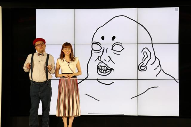 画像: 野爆のくっきーが描いた似顔絵に菊地亜美「私?どのへんが?」