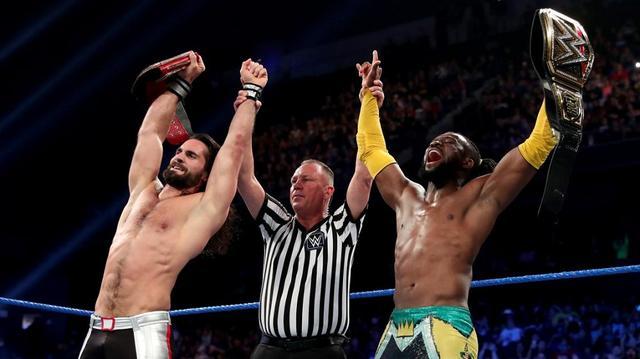 画像: 王者組キングストン&ロリンズが3本勝負で難なくストレート勝ち【6・18 WWE】