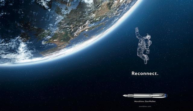 画像: 宇宙への手紙をモンブランの筆記具で