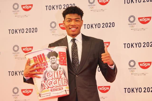 画像: 八村塁、日本初の記者発表会。人生初のCM出演に「映画みたいでした」