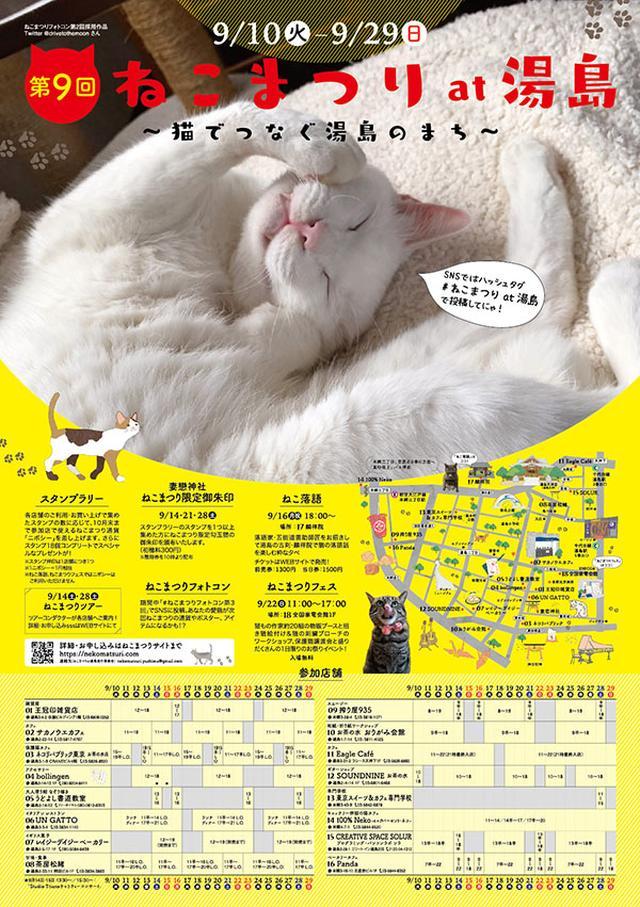 画像: 湯島がねこだらけに!「第9回 ねこまつり at 湯島」ねこ落語や猫御朱印、限定スイーツも/9月10日(火)の東京イベント