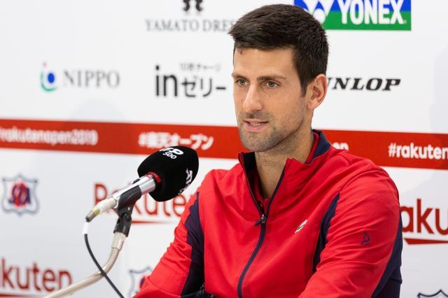 画像: ジョコビッチ、テニスは「マインドゲーム」。楽天オープン決勝へ意気込み