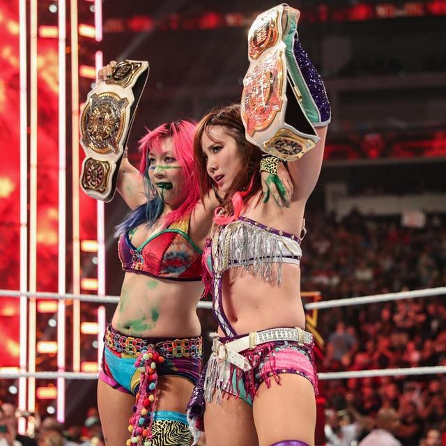 画像: カブキ・ウォリアーズが悲願のWWE女子タッグ王座戴冠【10・6 WWE】
