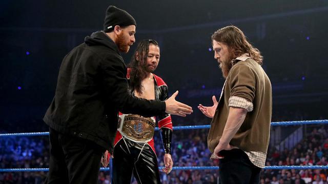 画像: 中邑真輔とサミ・ゼインがダニエル・ブライアンを仲間に勧誘【10・25 WWE】