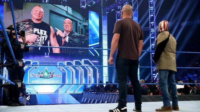 画像: レスナーがまたもミステリオの息子ドミニクに暴行【10・25 WWE】