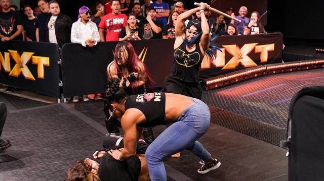 画像: 女子ウォーゲームズ戦で紫雷イオがチーム・ベイズラー入り【WWE NXT】
