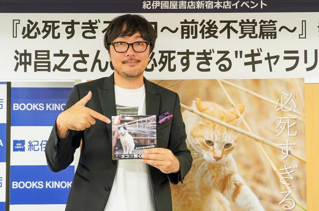 """画像: インパクト大の""""前後不覚""""なネコは天才!?猫写真家・沖昌之が""""必死すぎるネコ""""を撮り逃さないワケ"""