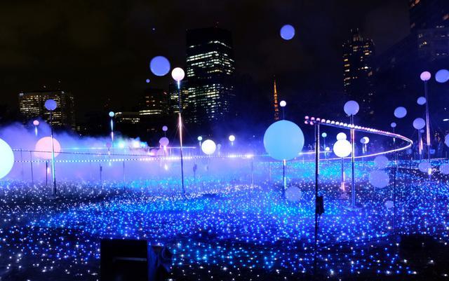 """画像: 東京ミッドタウン・今年は""""宇宙現象""""がテーマ【TOKYO ILLUMINATION 2019−2020】"""